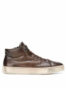 Santoni ankle lace-up sneakers - Brown