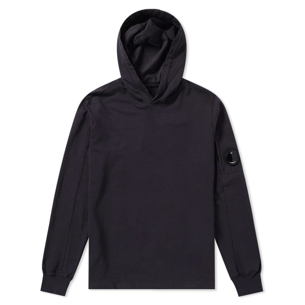 C.P. Company Arm Lens Popover Hoody Washed Black