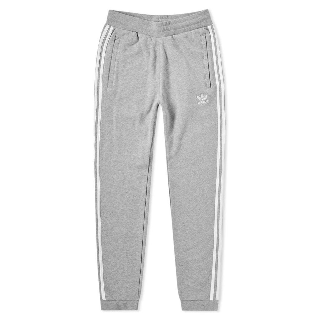 Adidas 3 Stripe Sweat Pant Medium Grey Heather