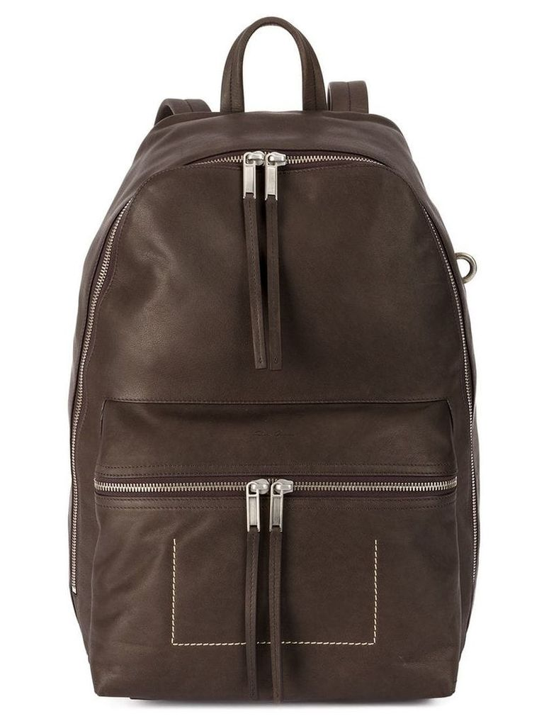 Rick Owens tall backpack - Brown