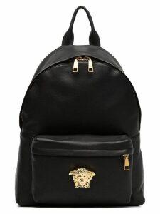 Versace black Medusa lead leather backpack