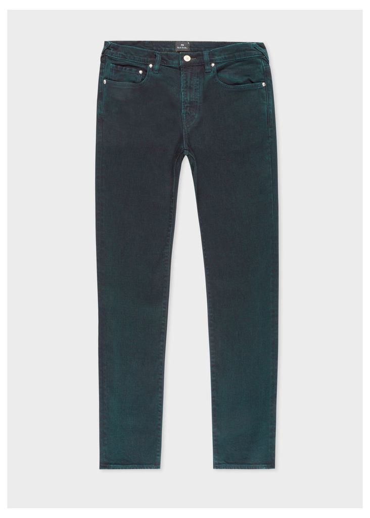 Men's Slim-Standard Navy 11.8oz 'Super Soft Cross-Hatch' Jeans