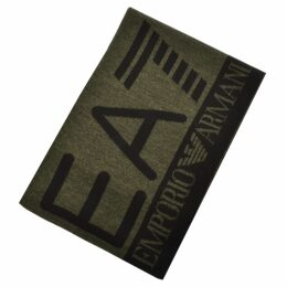 EA7 Emporio Armani Visibility Logo Scarf Green
