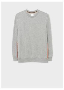 Men's Grey 'Artist Stripe' Tape Seam Sweatshirt