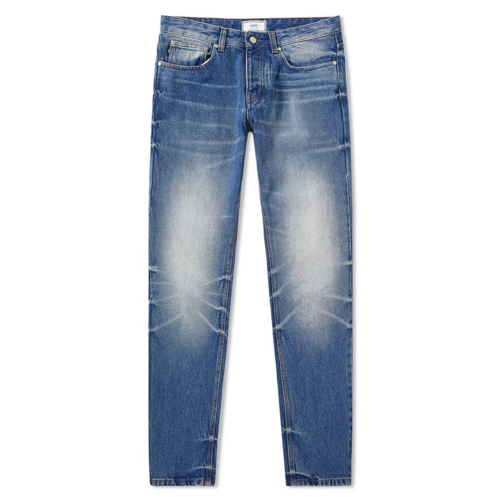 AMI Fit Jean Washed Blue