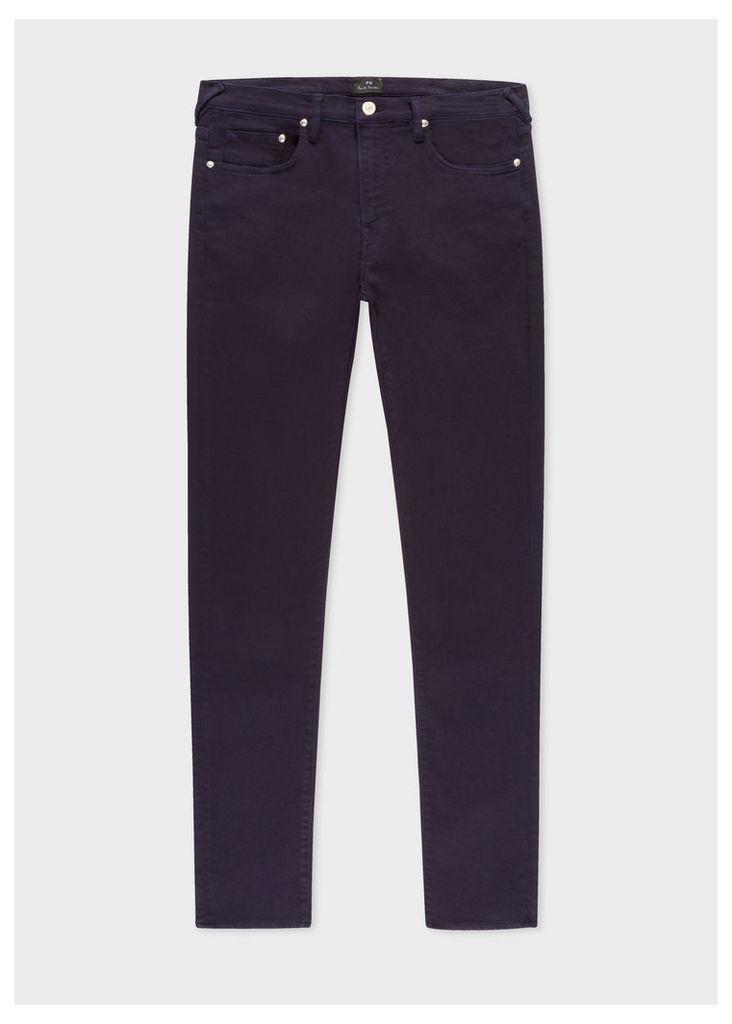 Men's Slim-Fit Dark Navy Garment-Dye Jeans