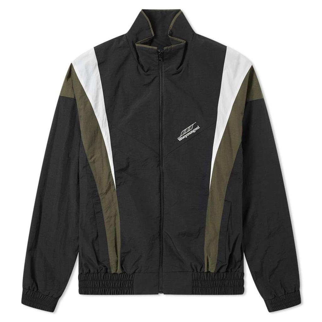 Wooyoungmi Logo Shell Track Jacket Black