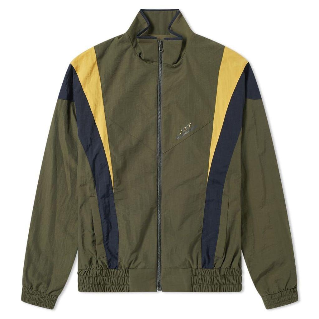 Wooyoungmi Logo Shell Track Jacket Khaki