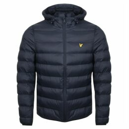 Lyle And Scott Hooded Puffer Jacket Navy