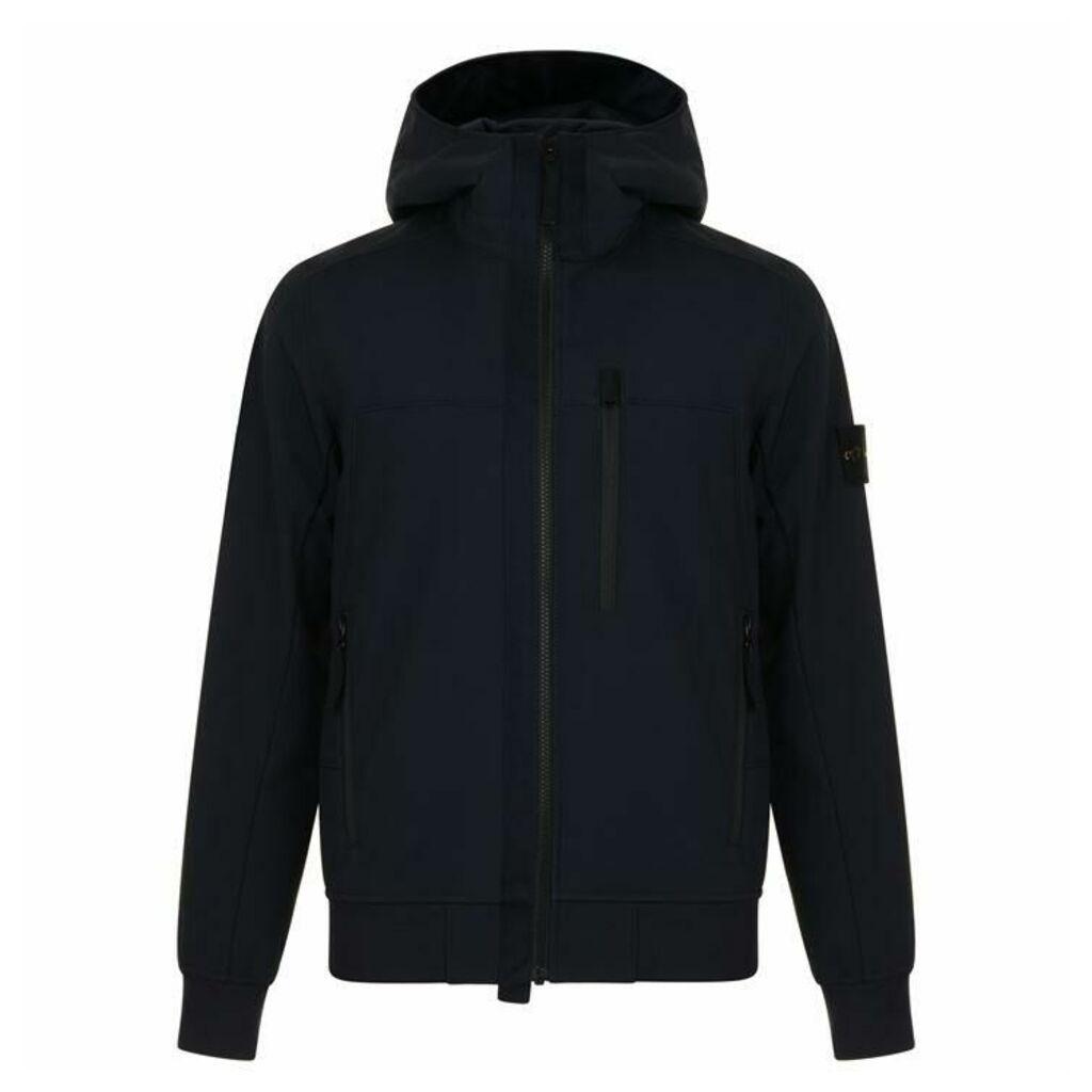 STONE ISLAND Soft Shell Badge Hooded Jacket
