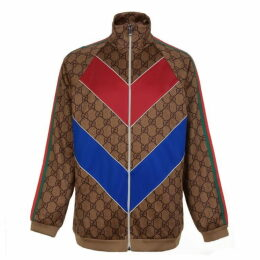 GUCCI Gg Supreme Web Zip Sweatshirt