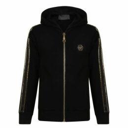 Philipp Plein What About Us Hooded Zip Sweatshirt
