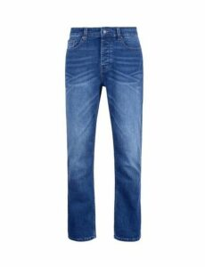 Mens Mid Blue Jude Bootcut Jeans, Blue