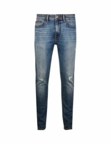 Mens Blue Ethan Super Skinny Fit Jeans, Blue