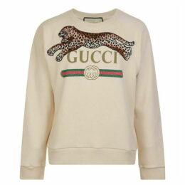 Gucci Fake Logo Feline Sweatshirt