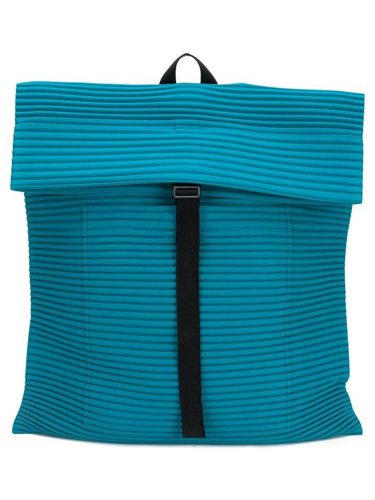 Homme Plissé Issey Miyake ribbed detail backpack - Blue