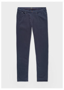 Men's Tapered-Fit Navy Garment-Dye Jeans