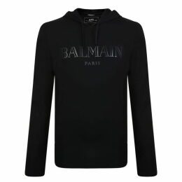 Balmain Front Logo Hooded Sweatshirt