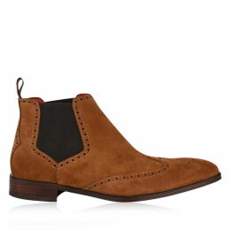 Jeffery West Capone Suede Wing Tip Chelsea Boots