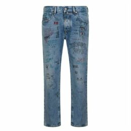 Diesel Mharky Scribbled Jeans