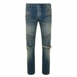 Balmain Ripped Biker Jeans
