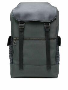 Bottega Veneta Intrecciato panel backpack - Grey