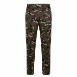 Palm Angels Stripe Panel Camouflage Jogging Bottoms