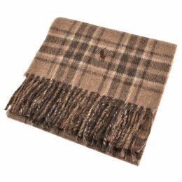 Ralph Lauren Check Scarf Brown