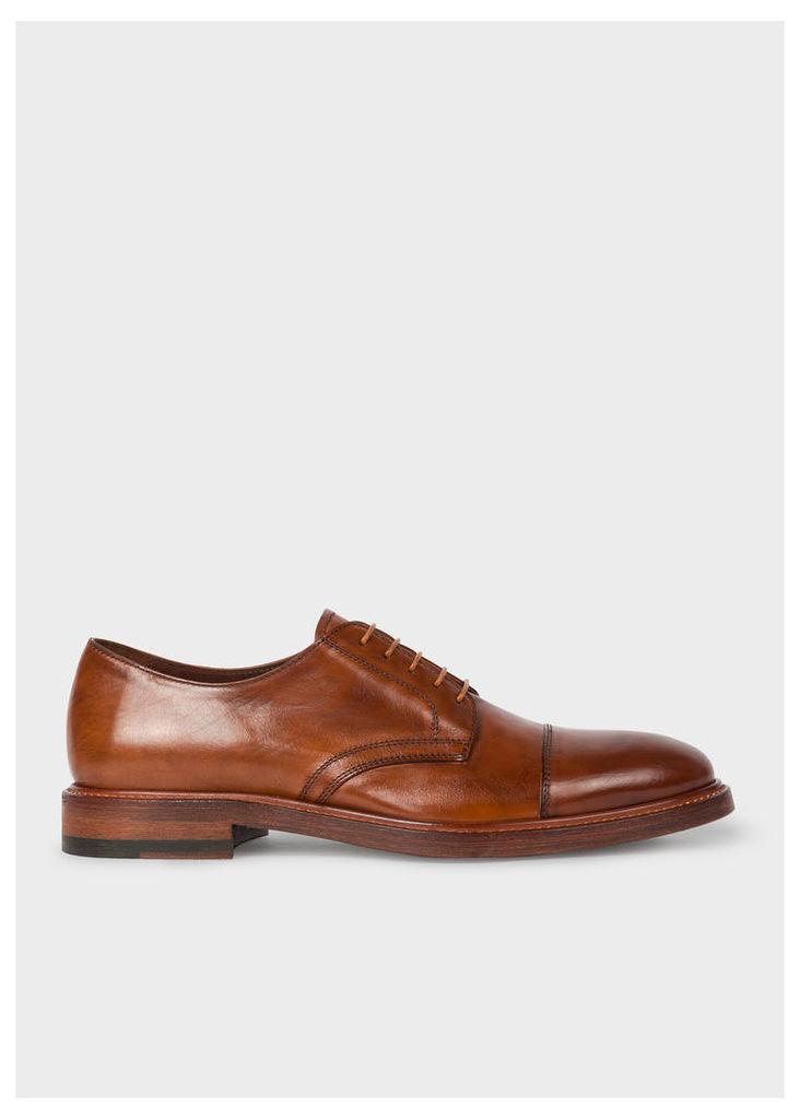Men's Tan Leather 'Rosen' Derby Shoes