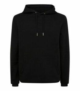 Black Pocket Front Hoodie New Look
