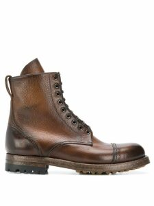 Silvano Sassetti aged effect boots - Brown