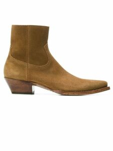 Saint Laurent Lukas 40 ankle boots - Brown