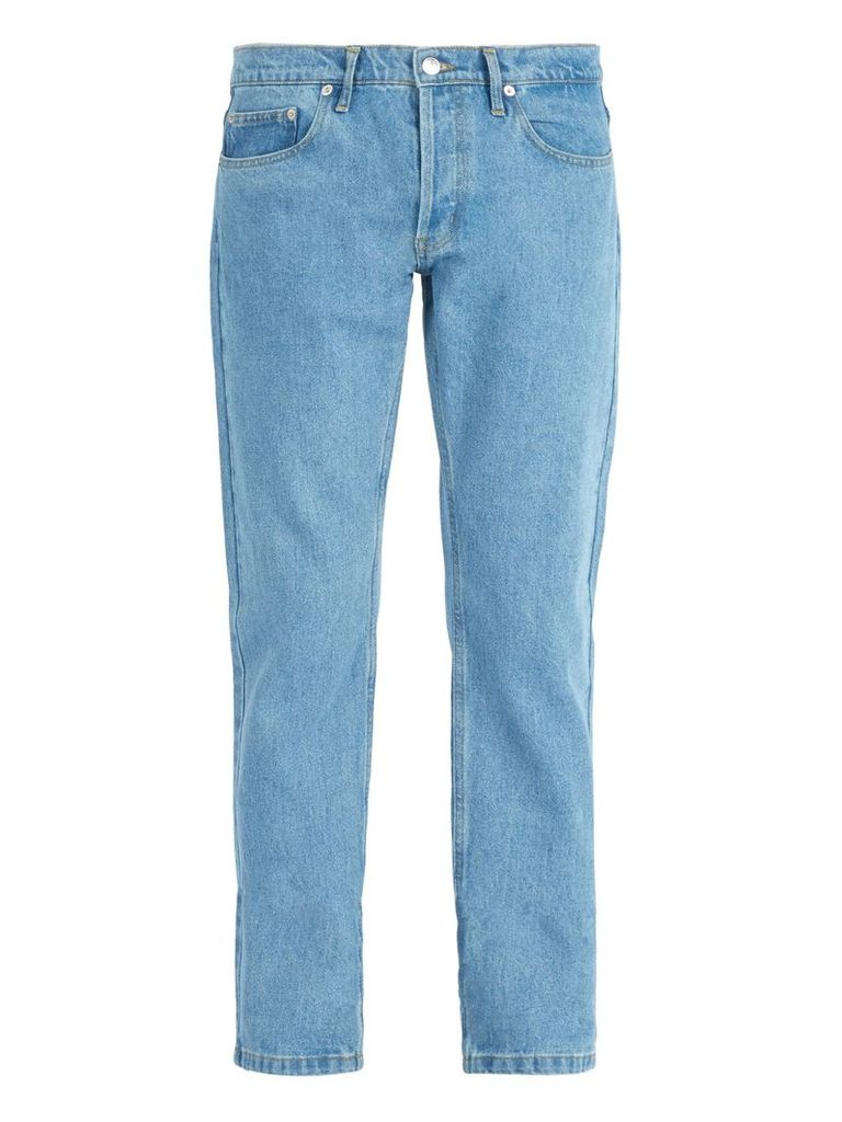 Éditions M.r - Max Washed Straight Leg Jeans - Mens - Blue