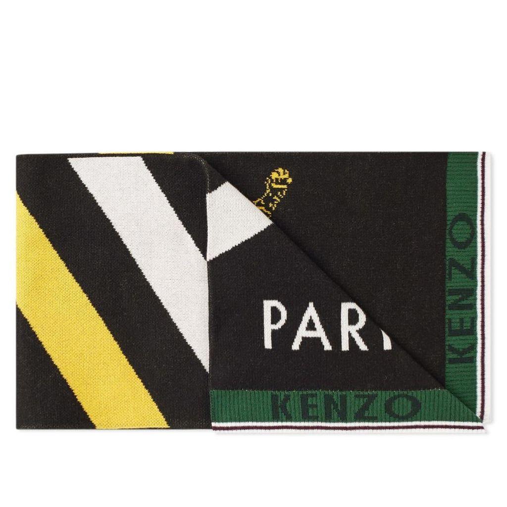 Kenzo Football Scarf Black, White & Yellow