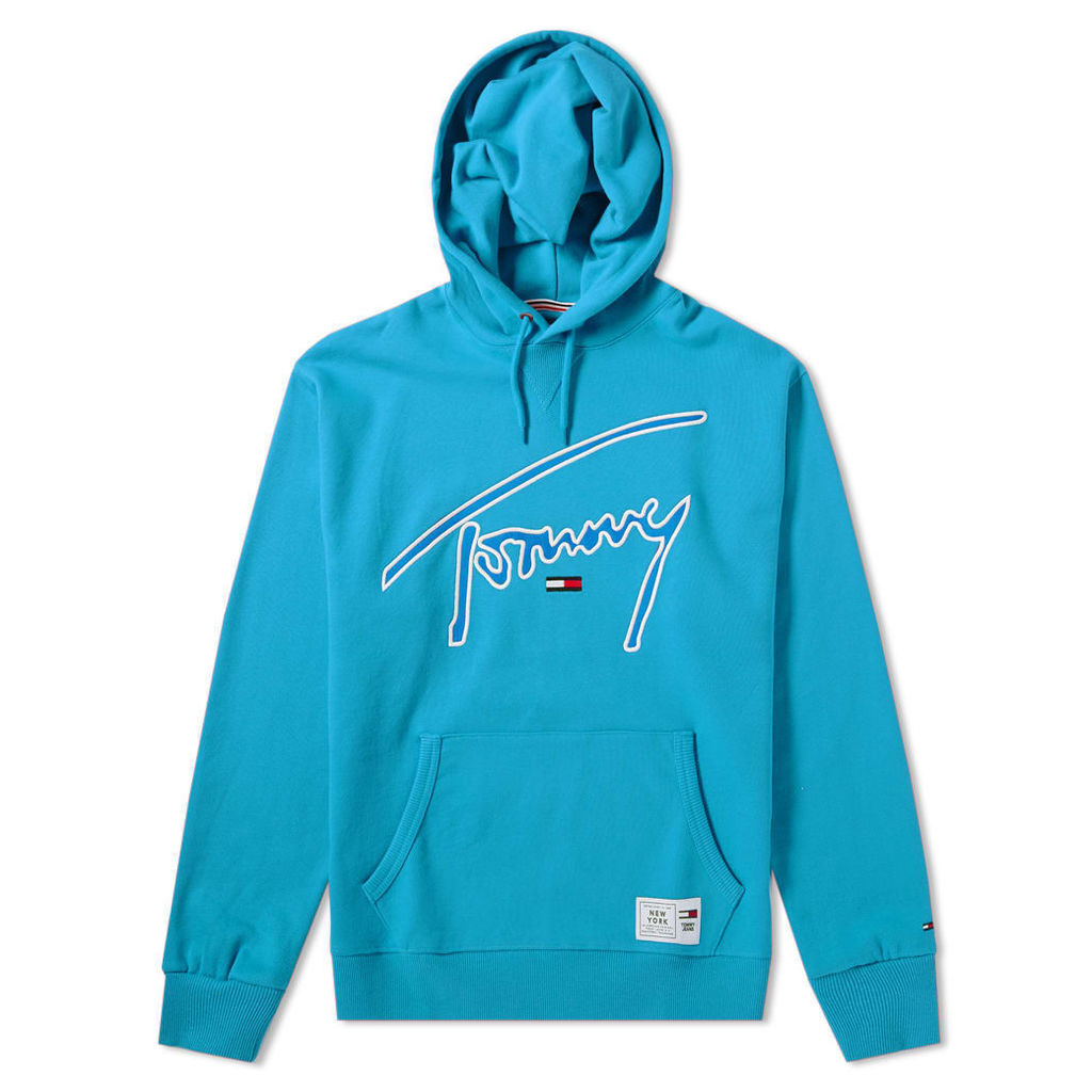 Tommy Jeans Signature Hoody Enamel Blue