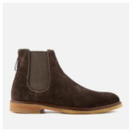 Clarks Men's Clarkdale Gobi Suede Chelsea Boots - Dark Brown - UK 8
