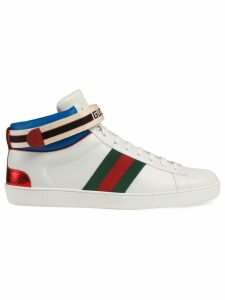 Gucci Gucci stripe Ace high-top sneakers - White