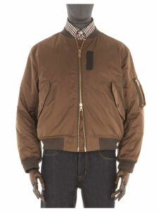 The MA1 Satin Bomber Med Brown