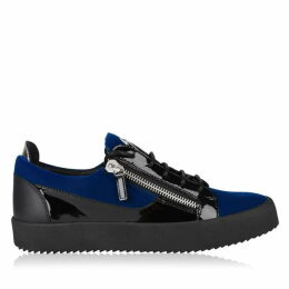 Giuseppe Zanotti May Velvet Panel Low Top Trainers