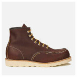 Red Wing Men's 6 Inch Moc Toe Leather Lace Up Boots - Briar Oil Slick - UK 8/US 9