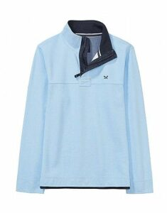 Padstow Pique Sweatshirt in Cool Blue