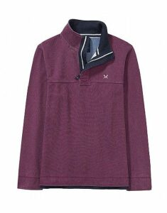 Padstow Pique Sweatshirt in Washed Plum