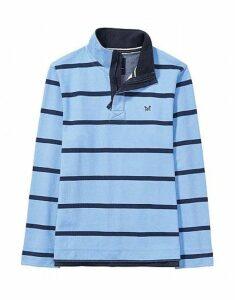 Padstow Pique Sweatshirt in Sky Blue