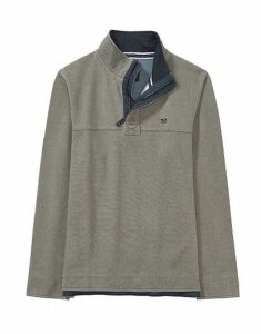 Padstow Pique Sweatshirt in Soft Khaki