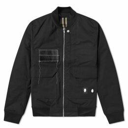 Rick Owens DRKSHDW COP Patch Flight Jacket Black