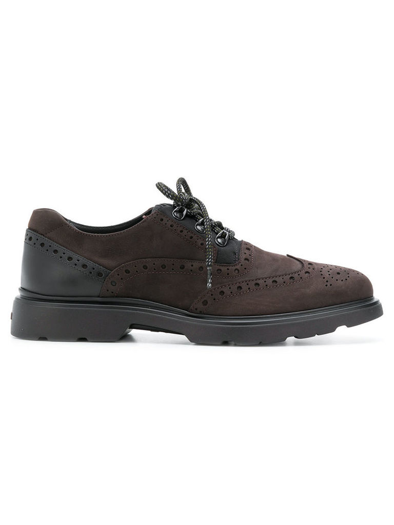 Hogan hiking lace-up shoes - Brown