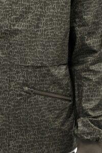 Travertine Cotton Hooded Jacket - tarmac/ black olive