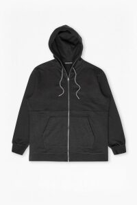 Ashcroft Longline Hooded Sweatshirt - black