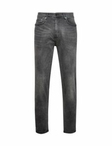 Mens Washed Grey Carter Stretch Tapered Fit Jeans, Grey