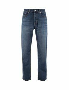 Mens Light Wash Wyatt Relaxed Fit Jeans, Blue